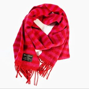 Meg Cohen cashmere scarf red/pink